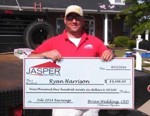 Ryan Harrison July Earnings: $9,496.60