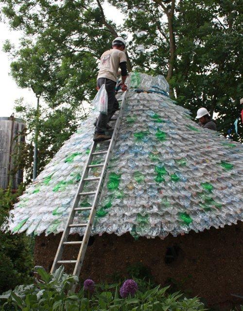 plasticbottle roof